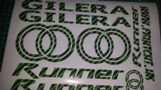 Gilera Runner Decals/Stickers EXCLUSIVE GREEN CARBON DESIGN sp vx fx vxr 125 172
